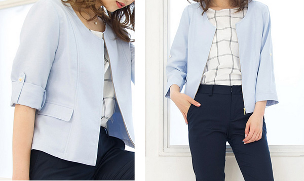 40代ファッションのサマージャケット