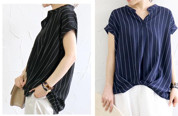 40代ファッションの半袖シャツ