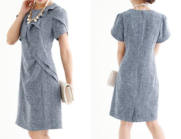 40代ファッションのドレスワンピース