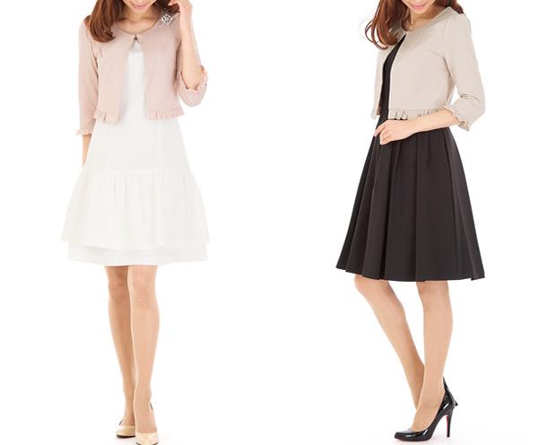 40代ミセスファッションの上品ボレロ