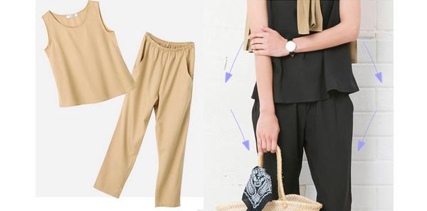 40代ミセスファッションのセットアップ