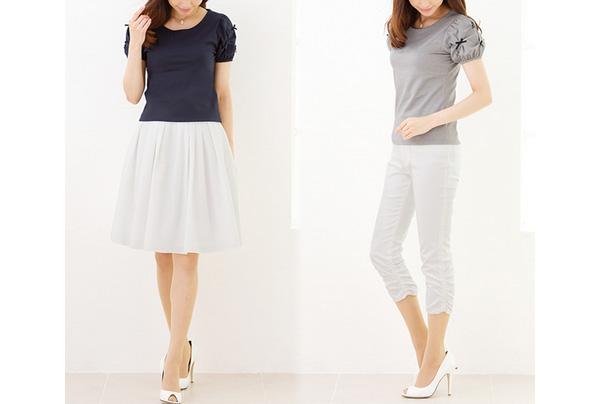 40代ミセスファッションの上品トップス