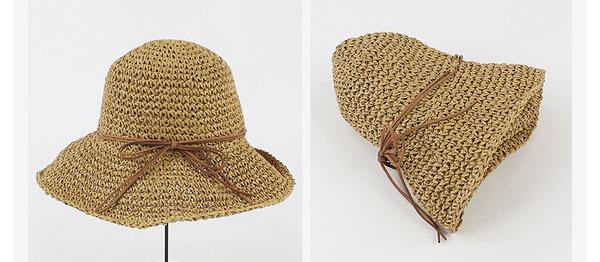 折りたたみ可能な麦わら帽子