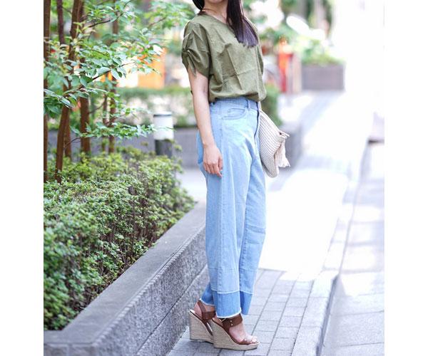 40代ファッションの二の腕綺麗魅せコーデ