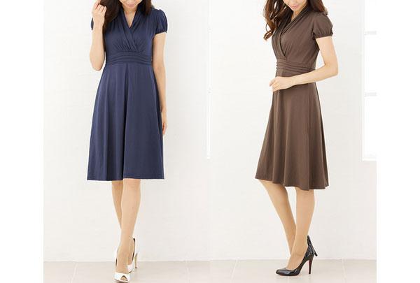 40代ミセスファッションのクラシカルワンピース