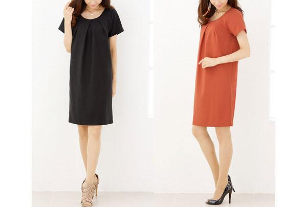 40代ミセスファッションのリネン風コクーンワンピース