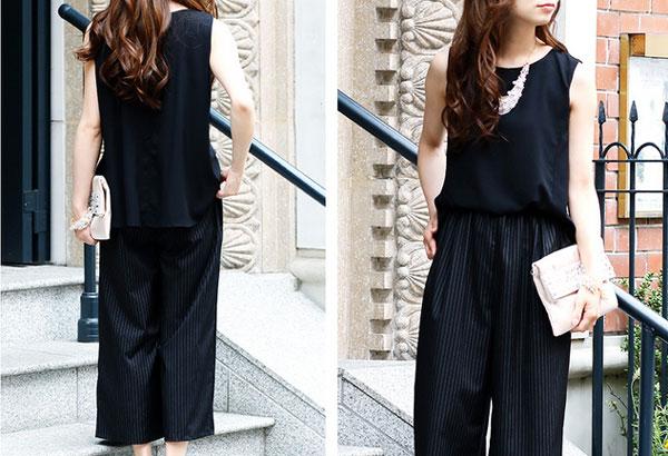 40代ファッションのオールインワンコーデ