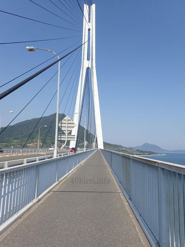 晴れの日の多々羅大橋