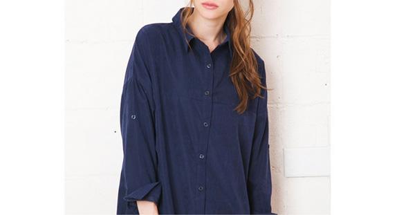 ミセスファッションのシャツワンピース