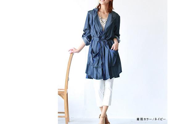サッと羽織れるコート