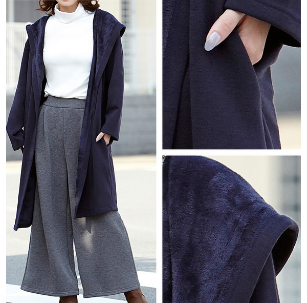 ふんわり暖か裏起毛スカーチョ マキシスカート