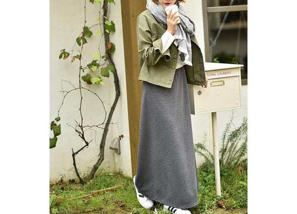田中亜希子さん着用!マキシスカート
