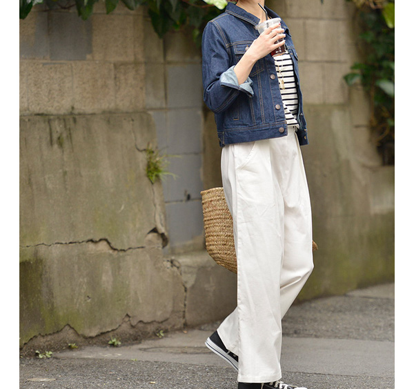 後藤真希さん着用!きれいめルーズなワイドパンツ