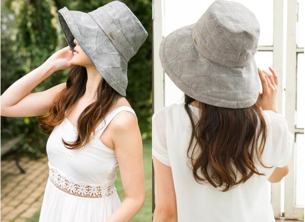 オシャレ帽子で紫外線対策
