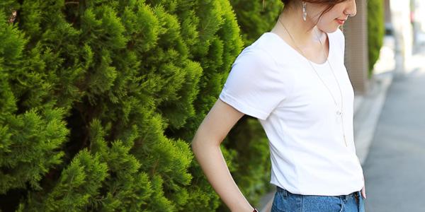 上質コットンモダールTシャツ